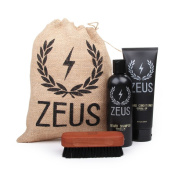 Zeus Basic Beard and Moustache Grooming Kit for Men - Beard Care Starter Kit to Help with Itching and Dry Skin