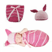 Doinshop Fashion Baby Firefighter Knit Hat Socks Costume Photography Prop Outfit Sets