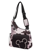 Disney Mickey Mouse Messenger Style Nappy Bag, Grey