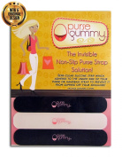 The ORIGINAL Non Slip Shoulder Bag and Purse Strap Grip Accessory - Purse GummyTM SET of 6 PIECES Variety Pack 2 Colours Black and Semi-Clear