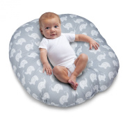 Boppy Newborn Lounger, Elephant Love Grey