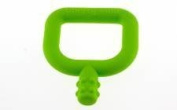 Green Knobby Mini Chew - Chewy Mini - New Stage Two 2 Teether for Sensory Stimulation - Bumpy Texture - For Babies 6-24 Months - A Safe Way to Develop Biting and Chewy Skills Beyond Pacifier - Made in USA
