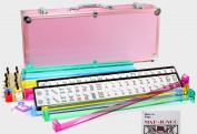 4 Pushers + Brand New Complete American Mahjong Set in PINK Case, 166 Tiles