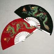 Metal Dragon Chinese Fighting Fan
