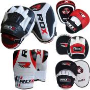 RDX Boxing Focus Bag MMA Training Punching Hook & Jab Strike Pads Target With Bag Mitts