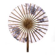 Windmill Circle Round Hand Fan Spun Flower Folding Fan