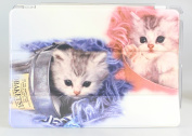 iPad Air Case + Transparent Back Cover - Two Adorable Kittens 1 - [Auto Wake/Sleep Function] [Ultra Slim] [Light Weight]