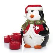 Yankee Candle Penguin Luminary Set & 4 Red Apple Wreath Tealights
