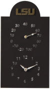 Henson Metal Works LSU Collegiate Logo Outdoor Thermometer and Clock