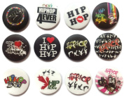 HIP HOP dance Awesome Quality Lot 12 New Pins Pinback Button Badge brooch 3.2cm