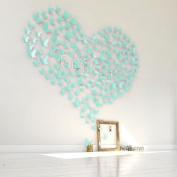 GEFII(TM) Mariposa 12pcs/pack Aquamarine(baby blue) PVC 3D Decorative Butterflies Removable Wall Art Sticker Decal Home Wedding Decor Decoration
