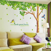 SWORNA Nature Series Large Tree with Flying Birds Kids Nursery Removable Vinyl Wall Art Decor Mural Decals Lettering Saying Quotes Wall Stickers Decal DIY Wall Art Decoration for Children's/Kids' Bedroom/kindergarten/Classroom/Living Room/School/Hallwa ..
