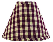 Home Collection by Raghu Heritage House Cheque Regular Clip Lampshade, 25cm , Barn Red/Nutmeg