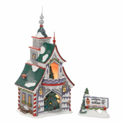 Department 56 North Pole Village Rudolph's S and G Tree Toppers Lit House, 22cm
