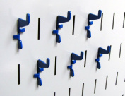 Wall Control 10-HS-001 BU Pegboard Standard Slotted Hook Pack Slotted Metal Pegboard Hooks for Wall Control Pegboard Only, Blue