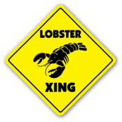 LOBSTER CROSSING Sign xing decor seafood restaurant