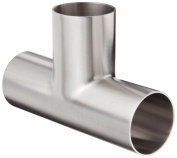 Dixon B7W-G200P Stainless Steel 304 Polished Fitting, Weld Long Tee, 5.1cm Tube OD