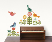 Petit Collage Wall Decal, Modern Birds