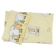 "Bedding Set Quilt /Duvet Pillow for pram cot crib Fits Up to 46cm /18"" Doll Dolls Teddy"