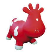 Crazii Hoppii Inflatable Bouncy COW - NEW DESIGN suitable for Age 1+ (Red) - Happy Hopper Hopperz