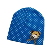 BuyHere Unisex Baby Bear Labelling Hats,Blue