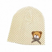 BuyHere Unisex Baby Bear Labelling Hats,Yellow