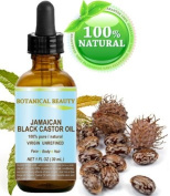 "BLACK CASTOR OIL JAMAICAN. 100% Pure / Natural / Virgin / Unrefined Cold Pressed Carrier oil. 1 Fl.oz.- 30 ml. For Skin, Hair, Eyelashes, Brows and Nail Care.""Caribbean Original Guarantee."""