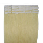 Best Quality 5A* 41cm Platinum Blonde 60 German Tape-In 100% Premier Remy Human Hair Extensions UK Seller