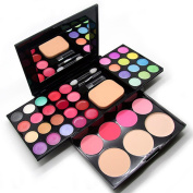CHIC*MALL Pro Warm Colours Matte Shimmer Eyeshadow Palette Makeup Kit Set + Brush Mirror