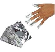 Beauty7 100pcs High Quality Nail Art Soak Off Gel/ Acrylic/Shellac Removal Foil Wraps