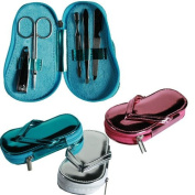 MANICURE SET POCKET SIZE NAIL CUTTER CLIPPER TWEEZERS PEDICURE CARE TOOL KIT SILVER