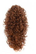 Light Chocolate Brown Spiral Curl Half Wig Hairpiece | 50cm Long Irish Dancing Style Half Wig | Tight Ringlet Curls