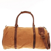 LECONI holdall weekender sports travel bag cow leather canvas retro vintage LE2004-C
