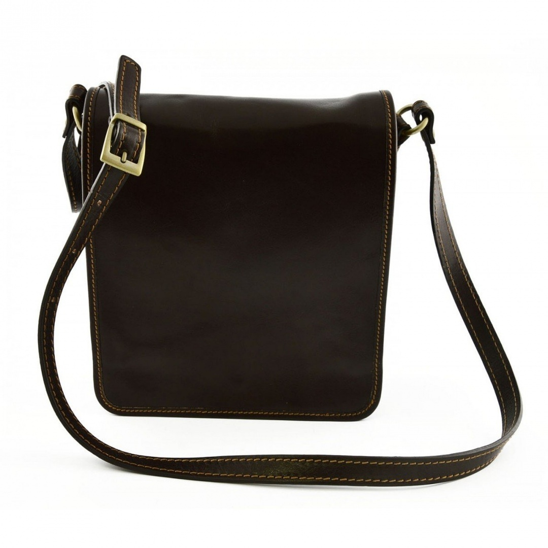 16c8b53cd558 Man Leather Bag Dark Brown - Genuine Leather Bags Made In Italy - Man Bag  by Dream Leather Bags - Shop Online for Bags in New Zealand