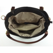 Leather Shoulder Bag Black Brown - Genuine Leather Bags Made In Italy - Woman Bag