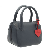 Mala Leather ANISHKA Collection Leather Grab Bag 774_75 Navy