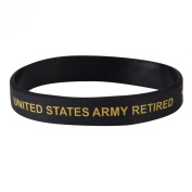 Army Silicone Wristband - Black