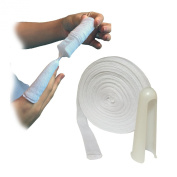 10 METRES OF STEROGAUZE TUBULAR FINGER CUT WOUND DRESSING GAUZE BANDAGE & APPLICATOR FOR INFANT CHILD SMALL FINGERS 1CM