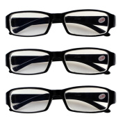 3 PRS Nearsighted Shortsighted Myopia Glasses -5.00 Strength New! **These are not reading glasses**