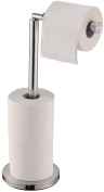 Home Discount® Toilet Paper Holder Stainless Steel Freestanding Bathroom Stand