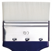 da Vinci Oil & Acrylic Series 5025 Impasto Paint Brush, Mottler Extra Stiff White Synthetic, Size 80