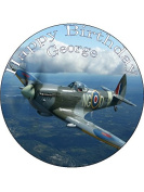 19cm Spitfire Personalised PREMIUM RICE PAPER Edible Cake Topper