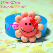 069LBQ Sunflower Shaped Cookie Flexible Silicone Mould Fondant Gumpaste Polymer Clay Charms