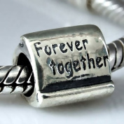MY-BEAD 925 Sterling Silver Bead Slide On Charm forever together European Beads - fit all famous brands and similar 3mm Bracelets