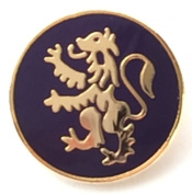 Scotland Lion Rampant Gold Plated Enamel Lapel Pin Badge T206
