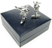 Holmes of London Novelty Helicopter Cufflinks Mens Silver Shirt Wedding With Free Faux Leather Gift Box