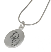 Article Engraving - Racetrack with Your Engraving Desire Pendant - Sterling Silver 925 - By Internationally Connexion