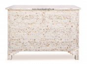 Mother of Pearl Inlay Floral Chest of Four Drawer