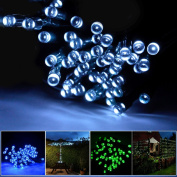 Lychee 17m 55ft 100LED Solar Waterproof Fairy String Light With 2 Modes for Outdoor Indoor Wedding Garden Home Party Christmas Decoration