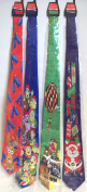 2 x Novelty Musical Christmas Tie's Red Blue Green Christmas Character Tie